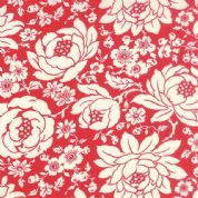 Moda Hello Darling by Bonnie & Camille - 4107 - Mums, White Floral on Red - 55110 11 - Cotton Fabric